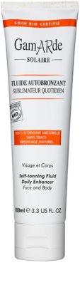 Gamarde Sun Care fluido autobronceador para rostro y cuerpo