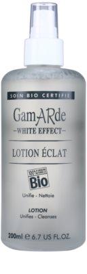 Gamarde White Effect почистващ тоник за озаряване на лицето