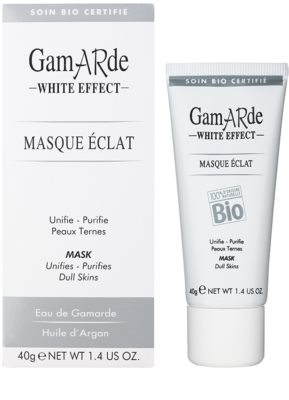 Gamarde White Effect очищаюча маска для сяючої шкіри 1