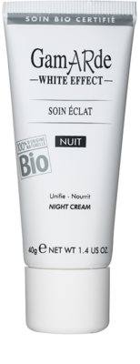 Gamarde White Effect crema de noche para iluminar la piel