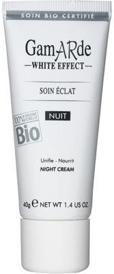 Gamarde White Effect нічний крем для сяючої шкіри