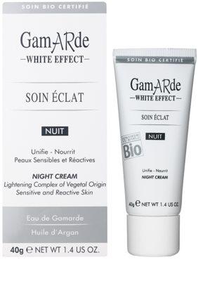 Gamarde White Effect нічний крем для сяючої шкіри 1