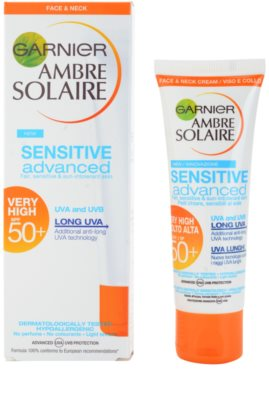 Garnier Ambre Solaire Sensitive Advanced krema za sončenje za obraz SPF 50+ 1