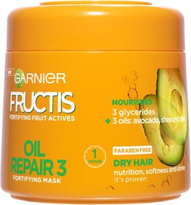 Garnier Fructis Oil Repair 3 mascarilla fortalecedora para cabello seco y dañado
