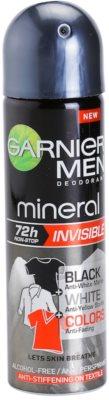 Garnier Men Mineral Invisible antiperspirant ve spreji proti bílým a žlutým skvrnám