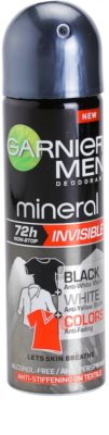 Garnier Men Mineral Invisible antitranspirante en spray anti-manchas amarillas y blancas