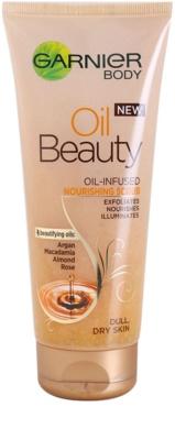 Garnier Oil Beauty hranilni oljasti piling za telo za suho kožo