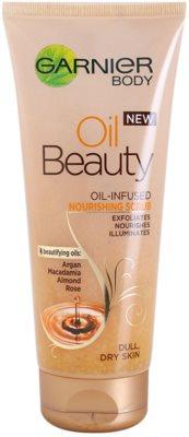 Garnier Oil Beauty vyživujúci olejový telový peeling pre suchú pokožku