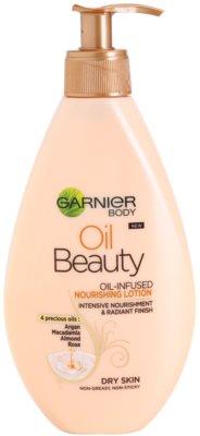 Garnier Oil Beauty leite corporal oleoso nutritivo para pele seca