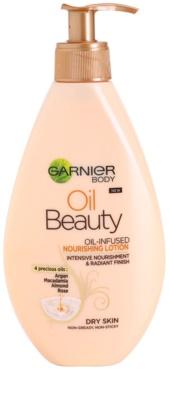 Garnier Oil Beauty подхранващ лосион за тяло с олио за суха кожа