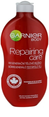 Garnier Repairing Care regenerujące mleczko do ciała do bardzo suchej skóry