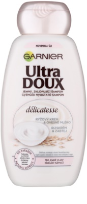 Garnier Ultra Doux zklidňující šampon pro jemné vlasy