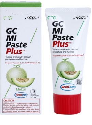 GC MI Paste Plus Melon remineralizační ochranný krém pro citlivé zuby s fluoridem 1