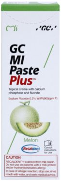 GC MI Paste Plus Melon crema protectora remineralizante para dientes sensibles  con fluoruro 2