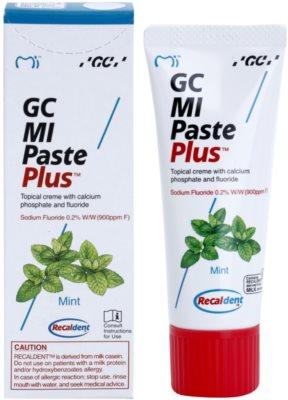 GC MI Paste Plus Mint Crema protectoare de remineralizare pentru dinți sensibili cu flor 1
