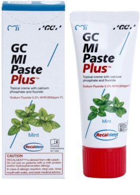 GC MI Paste Plus Mint crema protectora remineralizante para dientes sensibles  con fluoruro 1