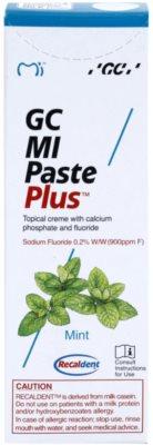 GC MI Paste Plus Mint Crema protectoare de remineralizare pentru dinți sensibili cu flor 2