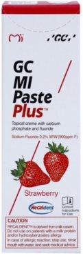 GC MI Paste Plus Strawberry ásványfeltöltő védőkrém az érzékeny fogakra fluoriddal 2