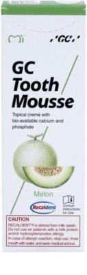 GC Tooth Mousse Melon creme protetor remineralizante para dentes sensíveis sem fluór 2