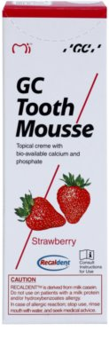 GC Tooth Mousse Strawberry crema protectora remineralizante para dientes sensibles  sin flúor 2