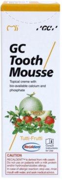 GC Tooth Mousse Tutti Frutti ремінералізуючий захисний крем для чутливих зубів без фтору 2