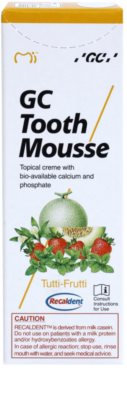 GC Tooth Mousse Tutti Frutti creme protetor remineralizante para dentes sensíveis sem fluór 2