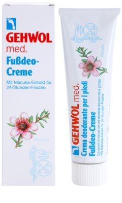 Gehwol Med intensive desodorierende Creme mit langanhaltender Wirkung für Füssen 1