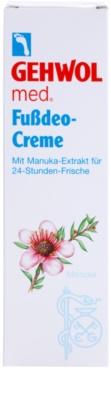 Gehwol Med intensive desodorierende Creme mit langanhaltender Wirkung für Füssen 2