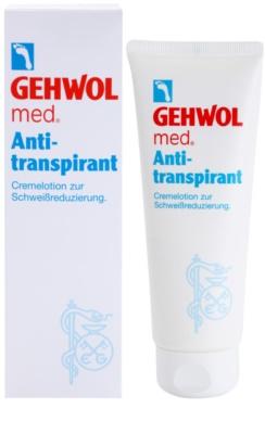 Gehwol Med krémový antiperspirant redukujúci potenie na nohy 1