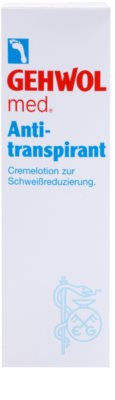 Gehwol Med krémový antiperspirant redukujúci potenie na nohy 2