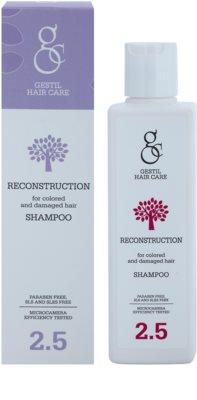 Gestil Reconstruction erneuerndes Shampoo für gefärbtes und geschädigtes Haar 1