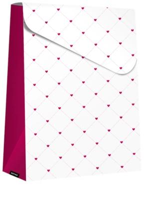 Giftino ajándék táska kicsi Purple Hearts (280 x 80 x 220 mm)