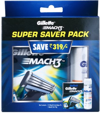 Gillette Mach 3 Spare Blades lote cosmético I.