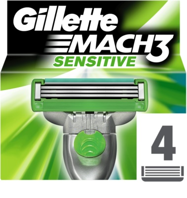Gillette Mach 3 Sensitive recarga de lâminas 4 pçs