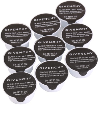 Givenchy Black For Light Mask набір освітлюючих масок для шкіри обличчя 9 штук