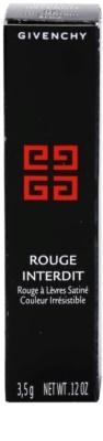 Givenchy Rouge Interdit barra de labios efecto seda 4