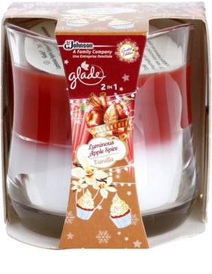 Glade Luminous Apple Spice and Vanilla 2 in1 dišeča sveča