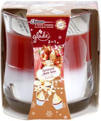 Glade Luminous Apple Spice and Vanilla 2 in1 vonná svíčka