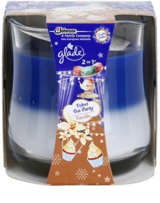 Glade Velvet Tea Party and Vanilla 2 in 1 vela perfumada