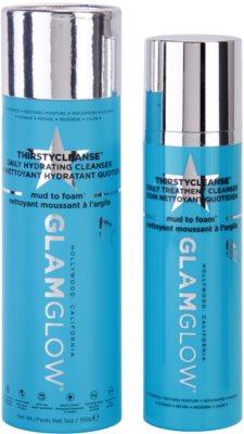 Glam Glow Thirsty Cleanse tisztító és szemlemosó hab hidratáló hatással 2