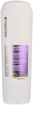 Goldwell Dualsenses Blondes & Highlights balsam pentru par cu suvite