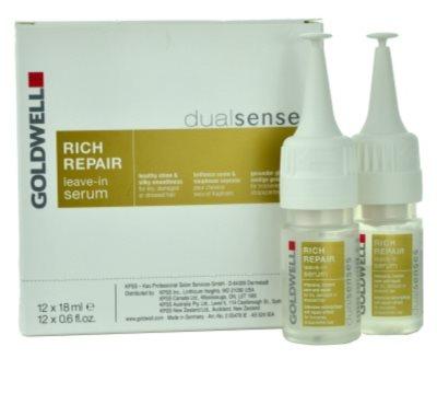 Goldwell Dualsenses Rich Repair regenerační a zpevňující sérum pro suché a poškozené vlasy