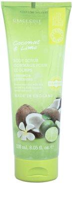 Grace Cole Fruit Works Coconut & Lime frissítő testpeeling