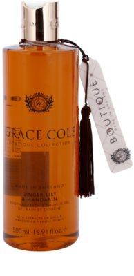 Grace Cole Boutique Ginger Lily & Mandarin успокояващ гел за вана или душ