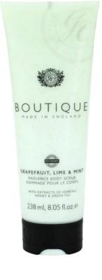 Grace Cole Boutique Grapefruit Lime & Mint exfoliant pentru corp cu efect de iluminare
