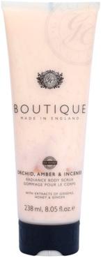 Grace Cole Boutique Orchid, Amber & Incense exfoliant pentru corp cu efect de iluminare