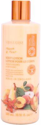 Grace Cole Fruit Works Peach & Pear hidratáló testápoló tej parabénmentes