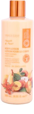 Grace Cole Fruit Works Peach & Pear lotiune de corp hidratanta fara parabeni