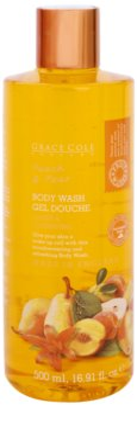 Grace Cole Fruit Works Peach & Pear gel de dus revigorant fara parabeni