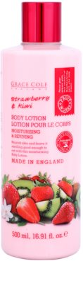 Grace Cole Fruit Works Strawberry & Kiwi leche corporal hidratante sin parabenos